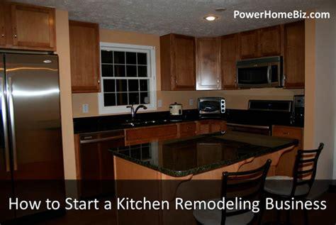 start  kitchen remodeling business