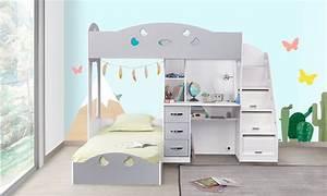 Lit Combiné Double : jusqu 39 58 lit mezzanine combin junior groupon ~ Premium-room.com Idées de Décoration