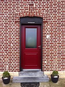 Porte D Entrée Vitrée Aluminium : porte d 39 entr e vitr e rouge en aluminium gamme min rale ~ Melissatoandfro.com Idées de Décoration