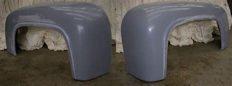 wd fiberglass ford  rear stepside fenders mm wider