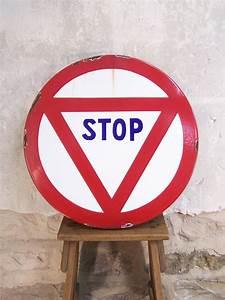 Panneau De Signalisation Personnalisé : ancien panneau de signalisation stop panneau routier vintage ~ Dailycaller-alerts.com Idées de Décoration