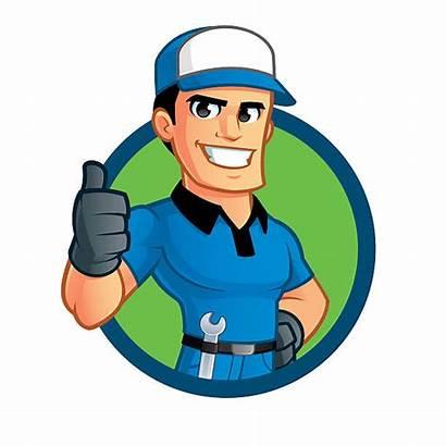 Mechanic Vector Clipart Clip Cartoon Illustrations Sympathetic