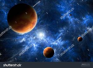 Space Art - A Photoshop Drawing Of Planets And A Blue ...