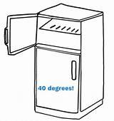 Refrigerador Refrigerator Colorear Coloring Clip Cocina Kitchen Imagen Dibujo Libro Line Wellnessrounds Kisspng sketch template