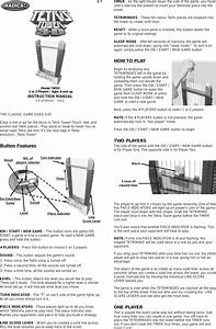 Radica Games Tetris Tower 3d 74033 Users Manual