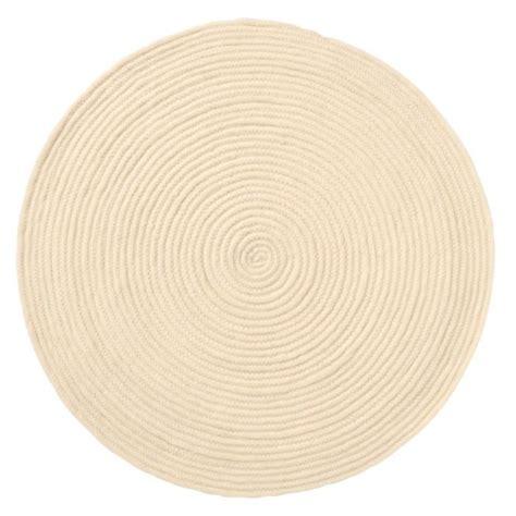 tapis rond 100 laine beige achat vente tapis de bain