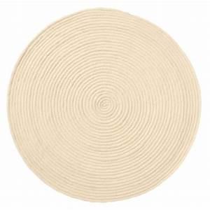 tapis rond 100 laine beige achat vente tapis de bain With tapis rond laine