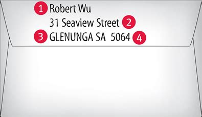 australia address format  printable receipt template