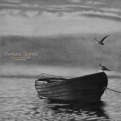 Boat Art Drawing by 24 Best Images About Paintings By Christina Doitsini On