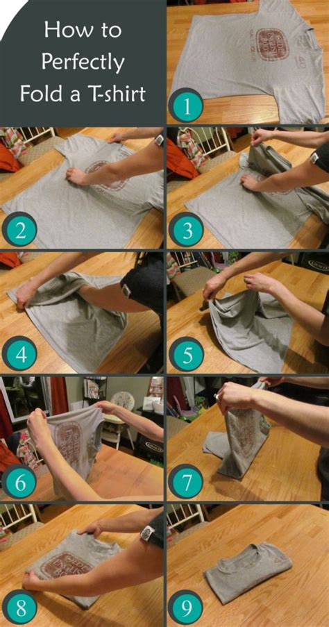 fold space save things properly shirt clever useful tips
