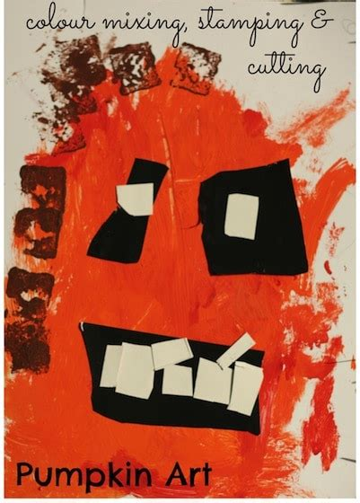 21 easy crafts for preschoolers happy hooligans 194 | pumpkin art for toddlers and preschoolers