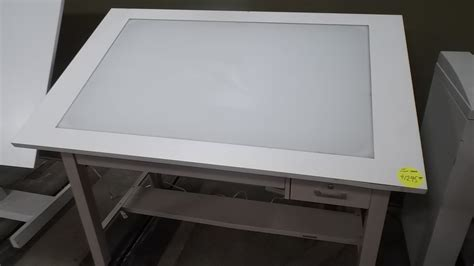 drawing desk with lightbox drafting table with light box used light table box