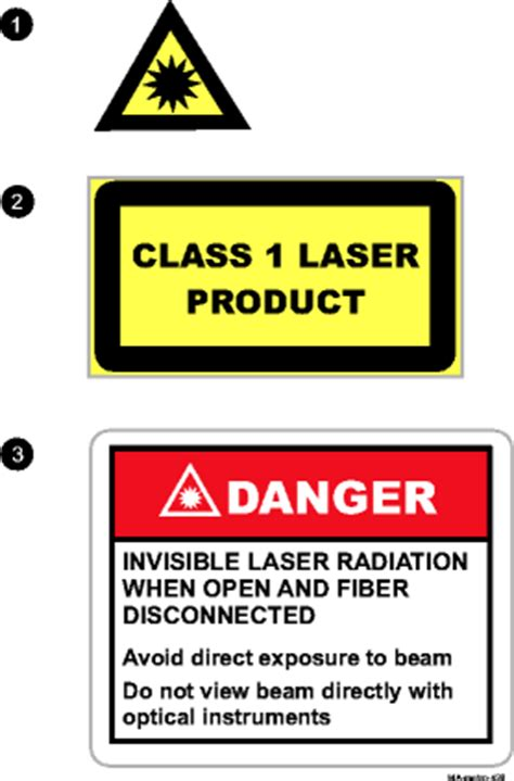 laser light warning label laser safety