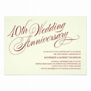 40th wedding anniversary invitations announcements With 40th wedding anniversary invitations