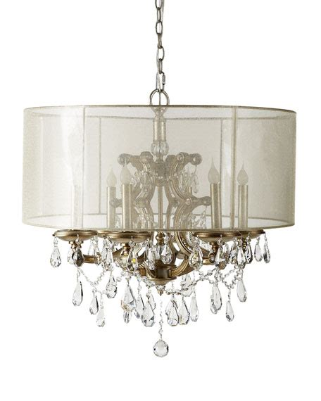 6 Light Chandelier With Shades by Richard Collection 6 Light Veiled Shade Chandelier