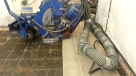blastrack machine asbestos masticconcrete youtube