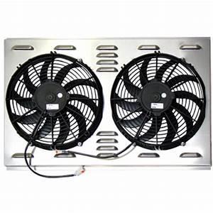 Speedway 9174004 Dual 12 Inch Electric Fan  U0026 Shroud Combo