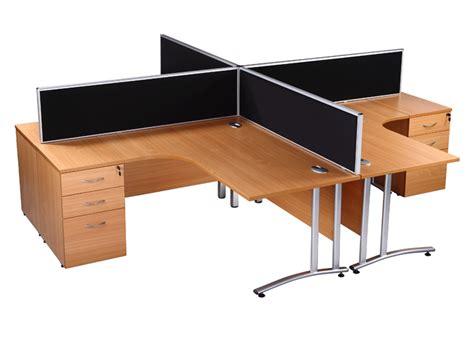 used office desk used office desk endurance radial office desk in beech
