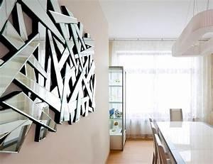 Mirror wall art ideas design decoration for Best brand of paint for kitchen cabinets with circle mirror wall art
