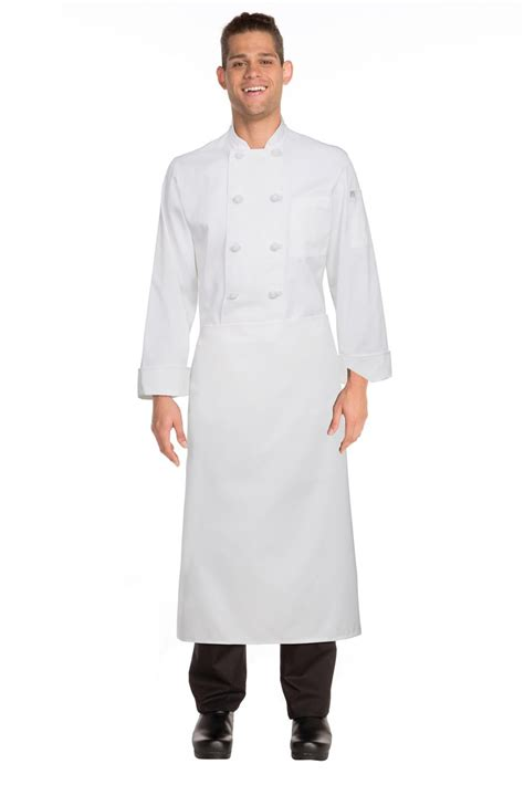 chef works full length white chefs apron