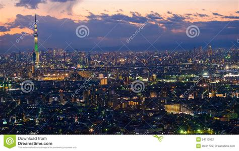 Tokyo in the twilight stock photo. Image of landscape ...