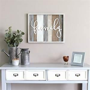Stratton, Home, Decor, Rustic, U0026quot, Family, U0026quot, Wood, Decorative, Sign, Wall, Decor-s09588