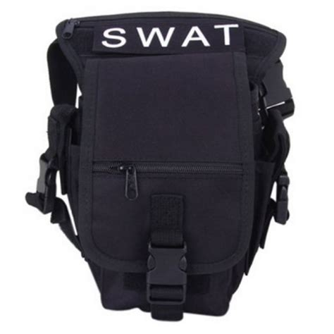 utility tactical leg and waist pouch carrier bag for