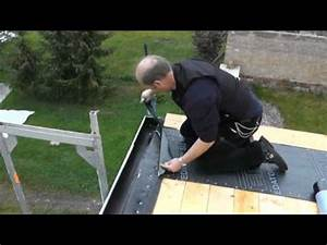 Dachpappe Verlegen Auf Holz : dach walter mit vedag top su nr paslode im verlegung youtube ~ Frokenaadalensverden.com Haus und Dekorationen