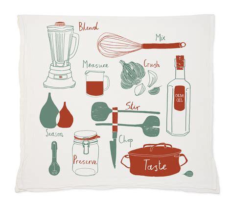 Kitchen Tea Towel  Claudia Pearson Illustration