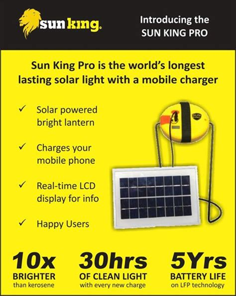 sun king pro world s lasting solar light with