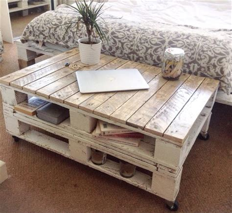 how to shabby chic a coffee table pallet shabby chic coffee table with wheels pallet furniture plans