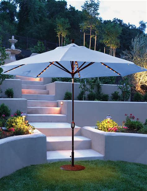 led outdoor umbrella umbrellas cushions patio world 3710