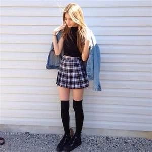 Skirt: tumblr, tumblr outfit, tumblr girl, hipster, plaid ...