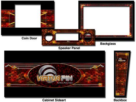 cabinet decals virtuapin high energy theme vpc