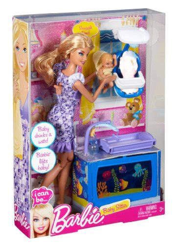 barbie    baby sitter playset