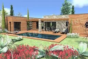 Plan Maison Contemporaine Toit Plat : plan de maison contemporaine cosmos ~ Nature-et-papiers.com Idées de Décoration
