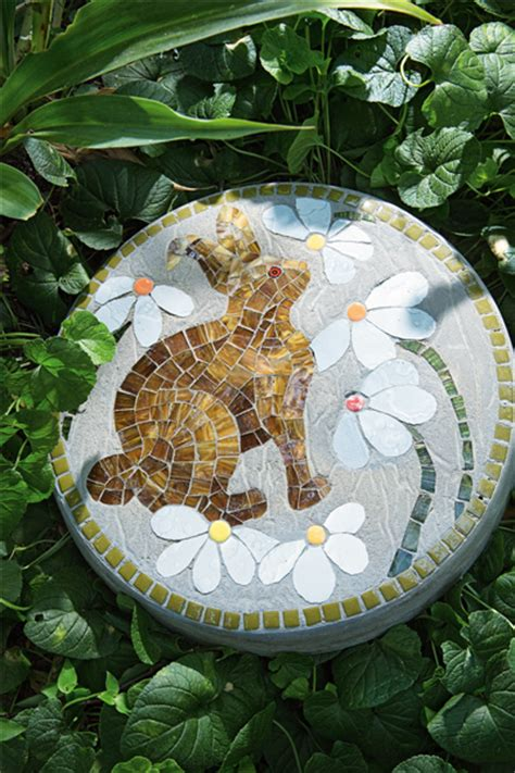 DIY mosaic stepping stones to instantly transform your garden