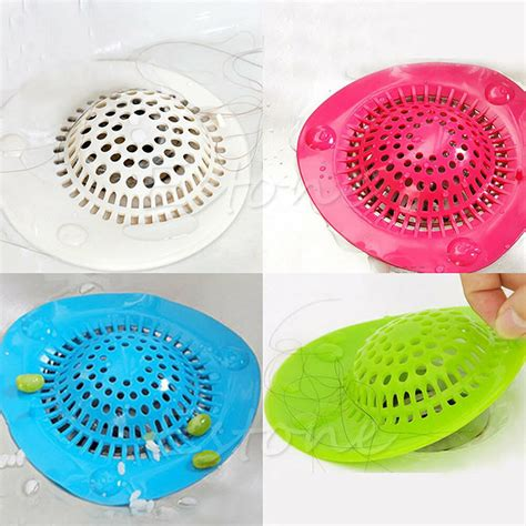 Hair In Shower Drain - silicone bath kitchen waste sink strainer filter net drain