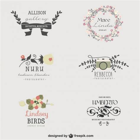 visual artist floral logo templates vector free download
