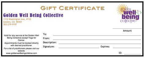 write gift certificate