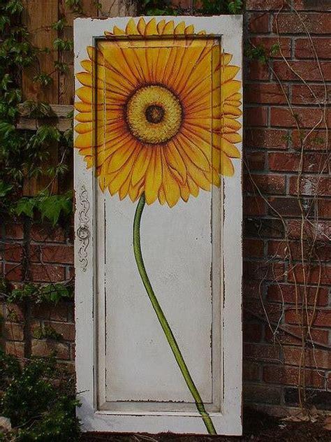guildmaster painted door panel yellow flower cabinet