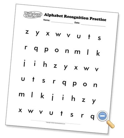 Alphabet Recognition Pages (several Font Options And Upperlower Case Options) Preschool