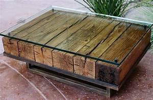 photo gallery of reclaimed wood and glass coffee tables With reclaimed wood and glass coffee table