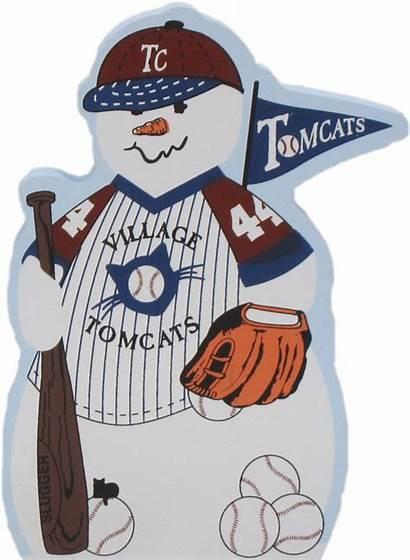 Baseball Snowman
