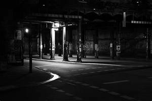 Free Images : black and white, road, night, alley ...