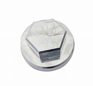 Rock Hard 4x4 U2122 Replacement 3 U0026quot  Badged Aluminum Spindle Nut For Rh4x4 U2122 Tire Carriers  Rh