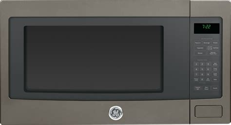 pebehes ge profile  cu ft built   countertop microwave slate