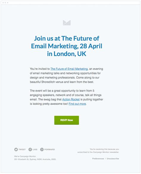 event invitation email template effective tips for event email marketing caign monitor