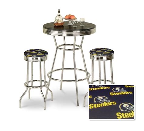 the furniture cove 3 chrome bar table set with 2
