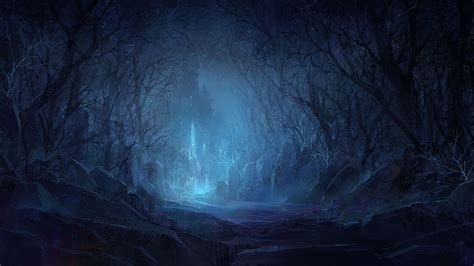 hd hintergrundbilder wald dunkel licht schloss steine